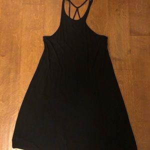 Little black dress with cross cross back